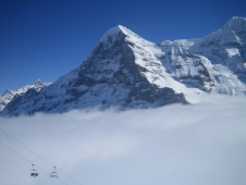 A foggy day in Wengen