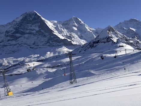 The Jungfrau, where the World Cup skicross was taking place