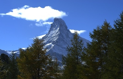 Zermatt's magnificent Matterhorn in the summer