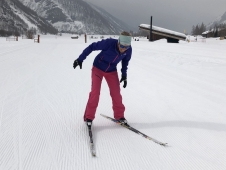 Learning to cross-country ski in Bessans