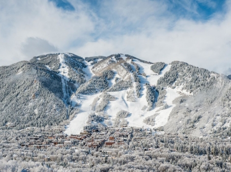 The US ski resorts of Aspen has opened a week early. Image: C2 Photography