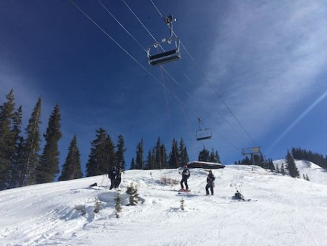 Ski patrollers regularly practice chairlift rescues. Library picture.