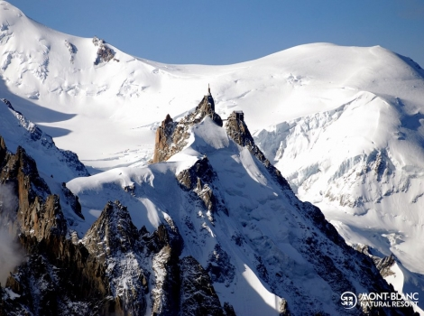The famous Aiguille du Midi in Chamonix, open for business today. Pic: facebook.com/ChamonixFans
