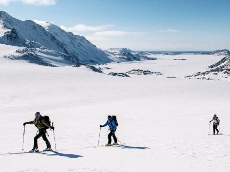 Ski touring during the 2015 Everest in the Alps. Photo: Daniel Wildey