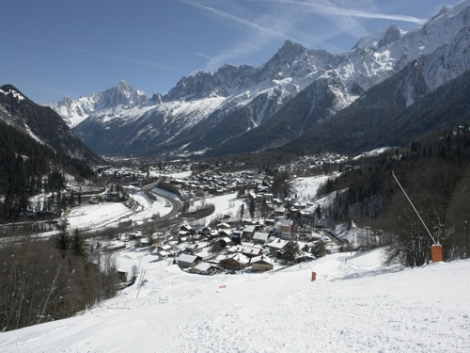 Chamonix valley from Les Houches  [(c) C Gill]