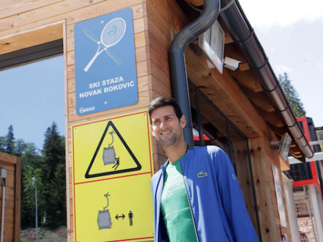 A piste in ski resort Jahorina is named after tennis star Novak Djokovic. Pic: Mondo.rs