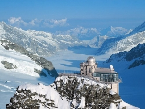 The Jungfraujoch, at 3,454m the highest railway station in Europe