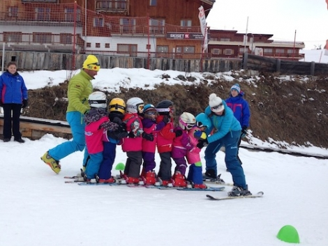 Scarlett and Imogen in the French ski resort of La Rosière with Esprit Ski