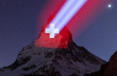 The iconic Matterhorn in Zermatt will be lit every night as a symbol of hope. Pic: Frank Schwarzbach