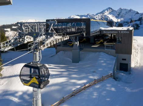 The 10-seater gondola is in the Planai section of Schladming's ski area