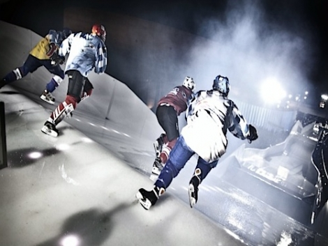 Crashed Ice competition  (c) Red Bull