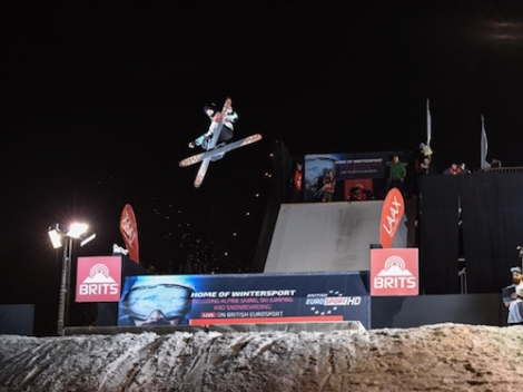 The ski show in London's Battersea Park will feature action on a real snow kicker