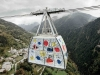 Ski cable car gets fashion makeover