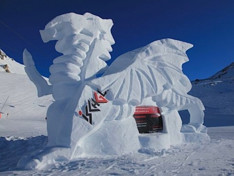 Where to Ski And Snowboard - Ischgl's ice dragons