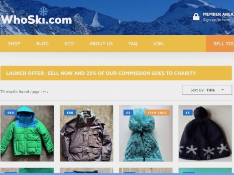 Second-hand September: sell your old ski kit online with whoski.com