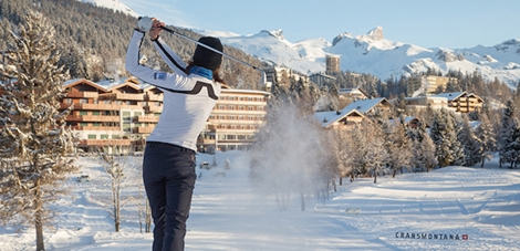 Winter golf in Crans-Montana
