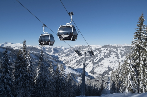 The new ZellamSeeXpress gondola opens up a link to the Saalbach ski area