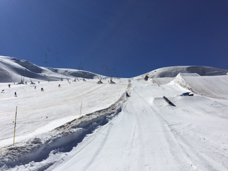 Summer skiing on the Zermatt glacier: snow, sun and blue skies - what's not to love?