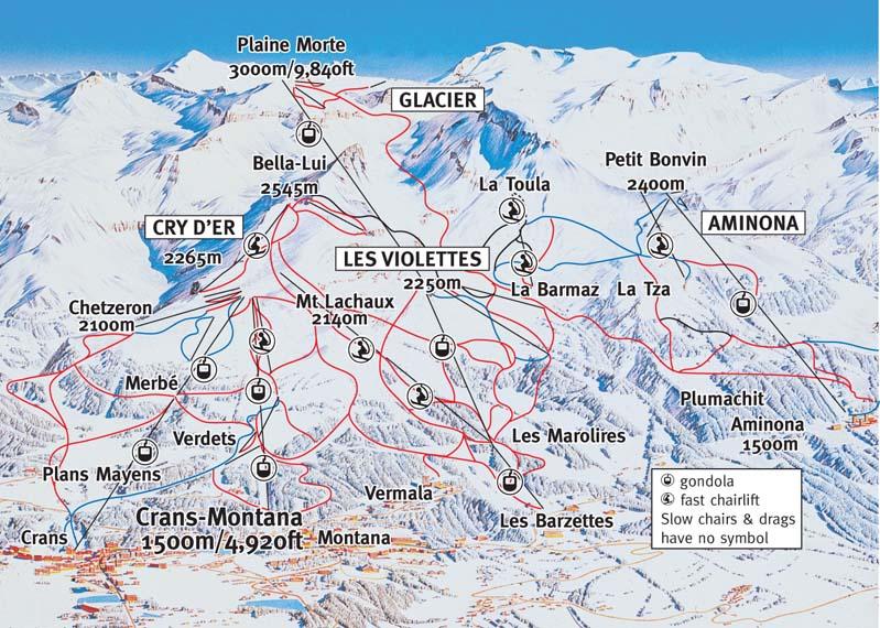 Where To Ski And Snowboard  CransMontana