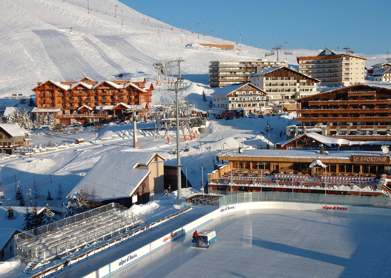 Alpe-d'Huez slopes and resort