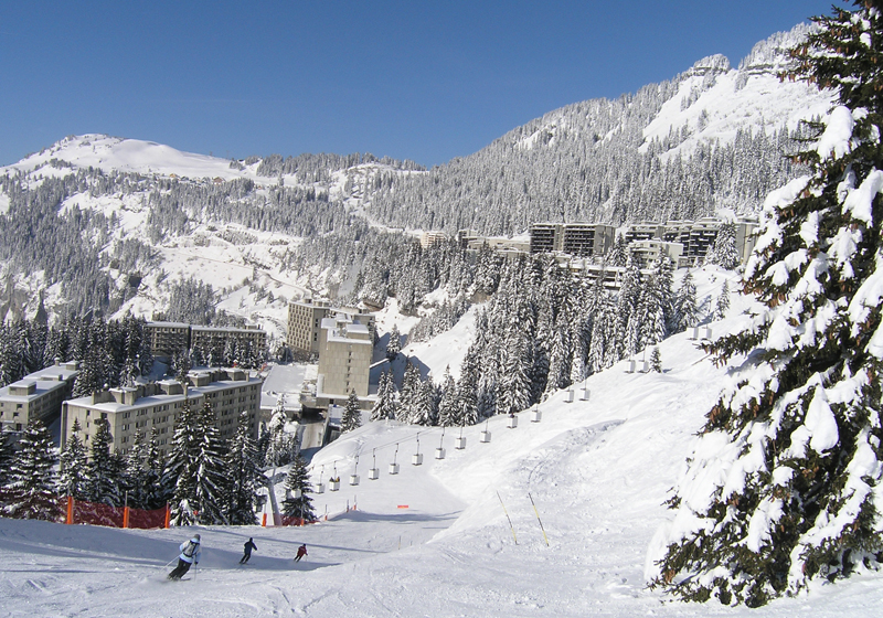 Flaine ski map